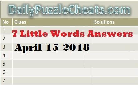 Seven Little Words April 15 2018