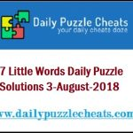 7 Little Words August 3 2018