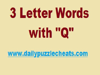 3 letter words with q list of words with letter q