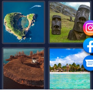 4 Pics 1 Word june 7 2021 answer is ISLAND